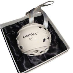 PANDORA White and Silver 2011 Christmas Ornament